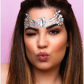 Adesivo facial Tbmake pedras para rosto 02 prata holografico