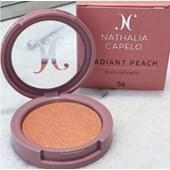 Blush em pó compacto Nathalia Capelo cor Radiant Peach nath