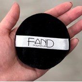 Esponja redonda GRANDE Fand Makeup veludo preto circular