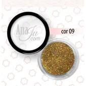 Glitter Fino Anaju cor Aj 09 dourado