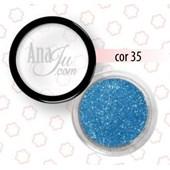 Glitter fino Anaju cor Aj 35 azul