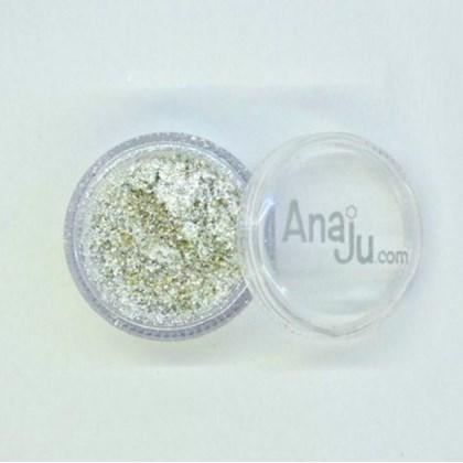 Glitter Fino Reflects Anaju Aj 033 Prata Claro