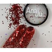 Glitter flocado Anaju cor Aj 45 vermelho original