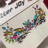 Glitter Joy Adesivo Pedrar Cristais Rosto 1 Cartela Modelo 4