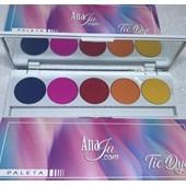 Paleta De Sombras matte Anaju Tie Dye mod A com espelho