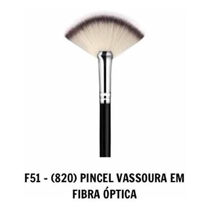 Pincel Daymakeup F 51 Vassoura Fibra Optica Leque Original Cor:Preto